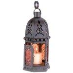 Amber Glass Moroccan Lantern