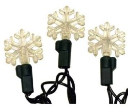 Snowflake Christmas Lights: Good Tidings Snowflake LED Holiday Light Set