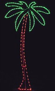Lighted Christmas Display 633 LED Palm Tree LED