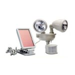 MAXSA Innovations Motion-Activated Solar LED Security Spotlight