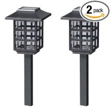 Malibu Outdoor Solar-Powered Mission Lights 2 Pack