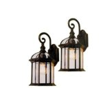 Lowes Portfolio Outdoor Two-Pack Wall Lanterns