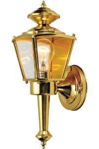 Hardware House Polished Brass Outdoor Lighting Fixture