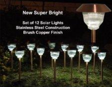 Homebrite Copper Solar Light