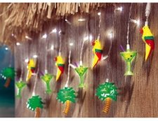 Tropical Outdoor Curtain String Lights
